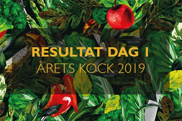 Resultat finaldag 1 Årets Kock 2019